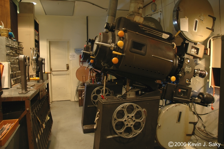 Riviera Theatre Projection Booth
